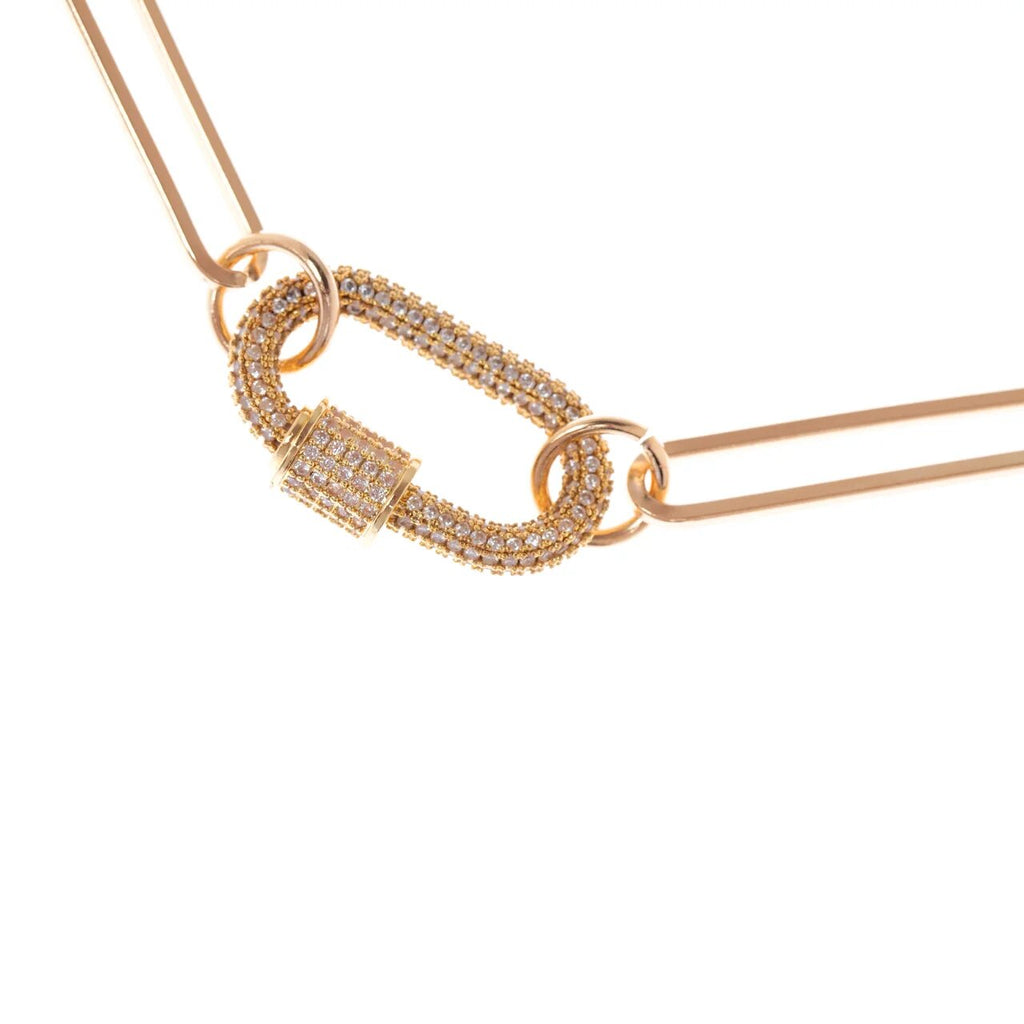 Carabiner Gold Necklace