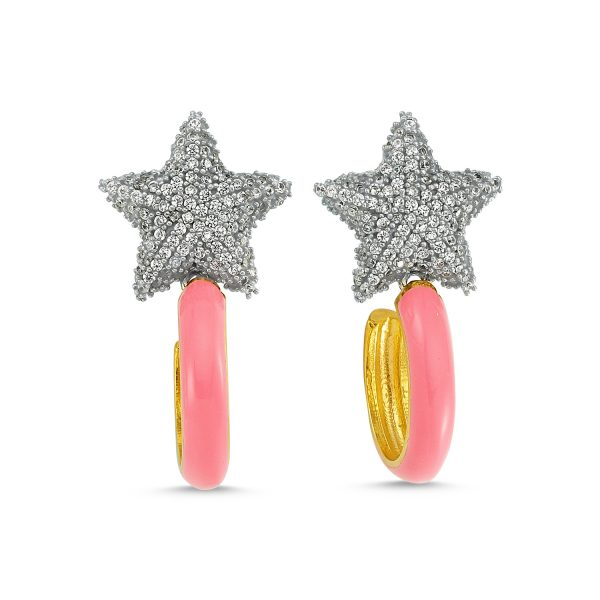 Lights On Pink Earrings