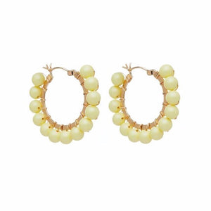 Dahlia Hoops - Washed Yellow