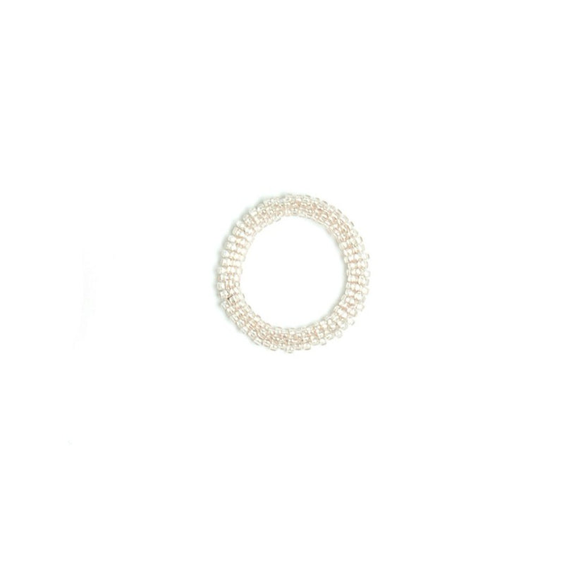 Beige Beaded Ring
