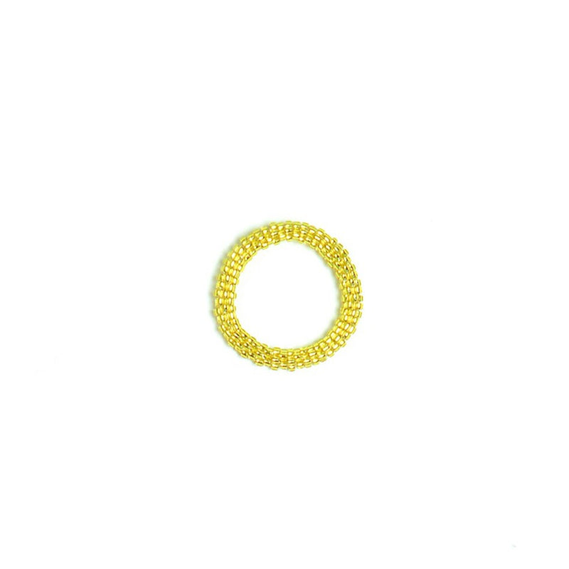 Yellow Beaded Ring