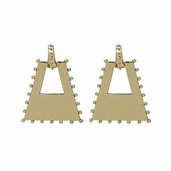 Zeppelin Statement Earrings - Gold