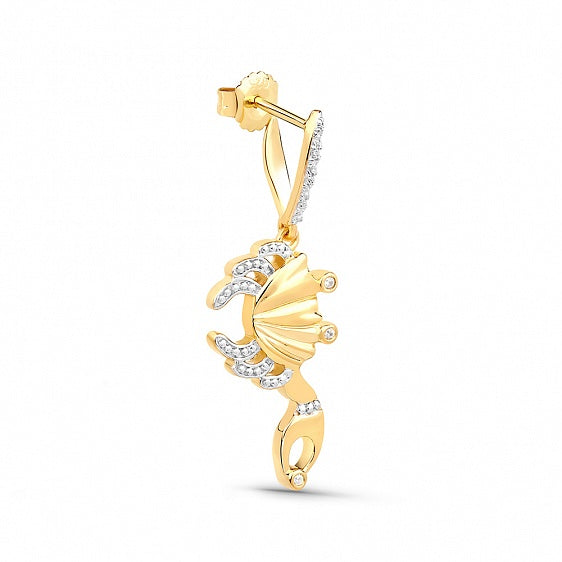 Marine Crab Earring with Cubic Zirconia