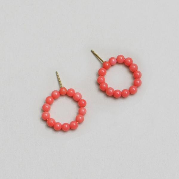 SALMON HOLIDAY EARRINGS NO1