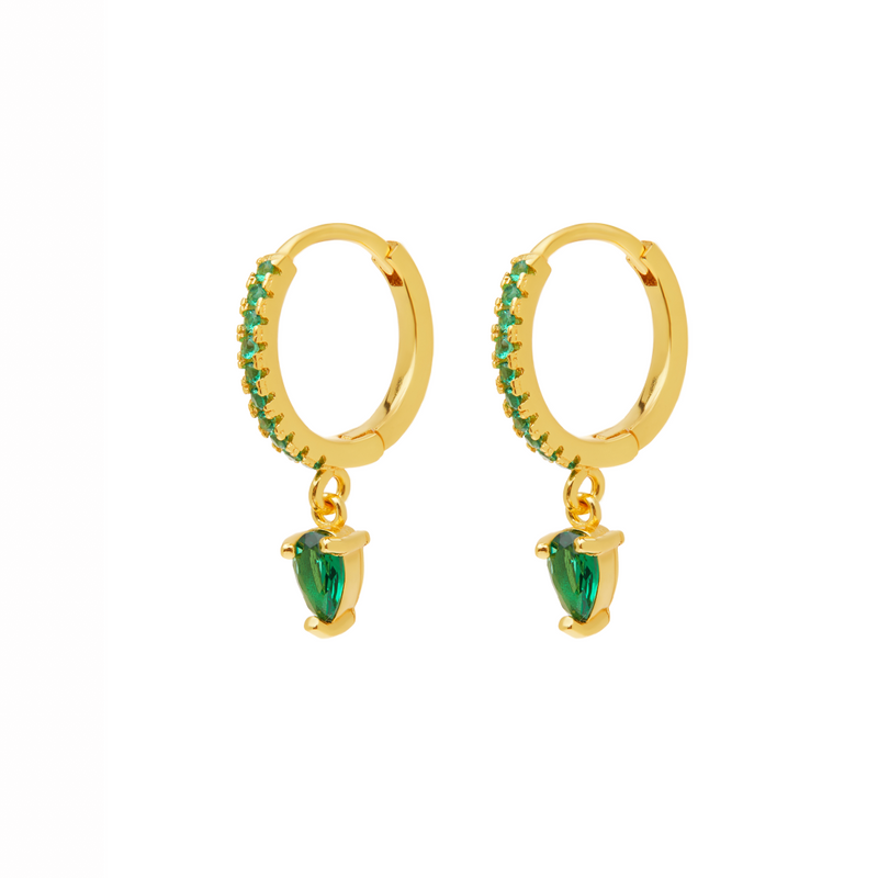 Gold Verdent Earrings