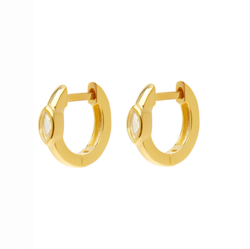 Golden Yellow Gem Earrings