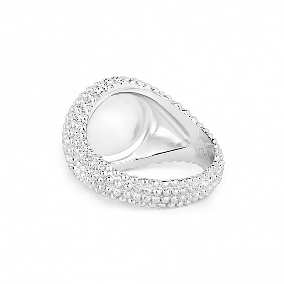 Signet Bubble Ring - Silver