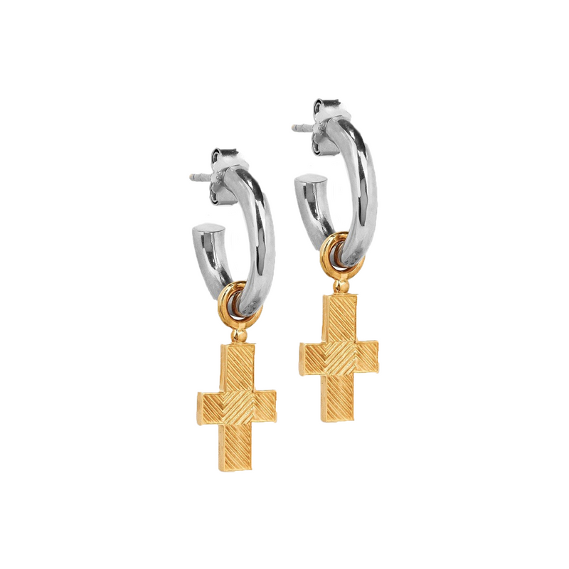 Fima Earrings Silver/Gold