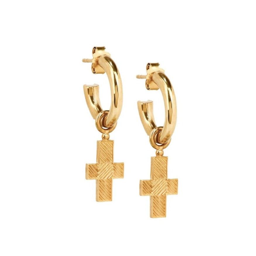 Gold Fima Earrings