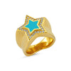 Starburst Blue Ring