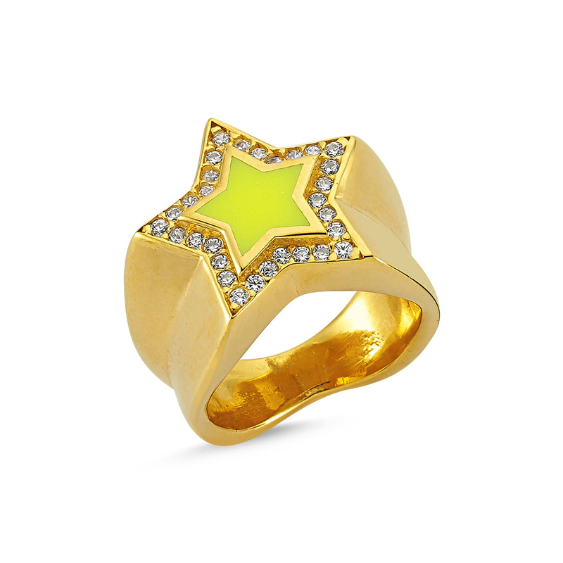 Starburst Yellow Ring