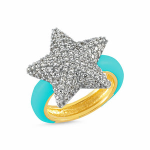 Extra Star Blue Ring