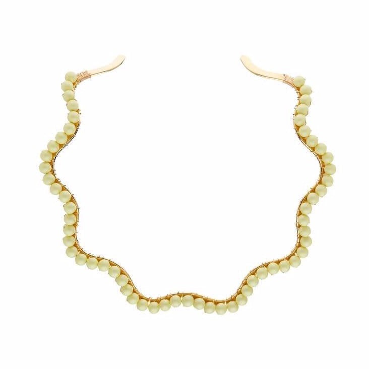 A Bigger Splash Choker - Washed Yellow