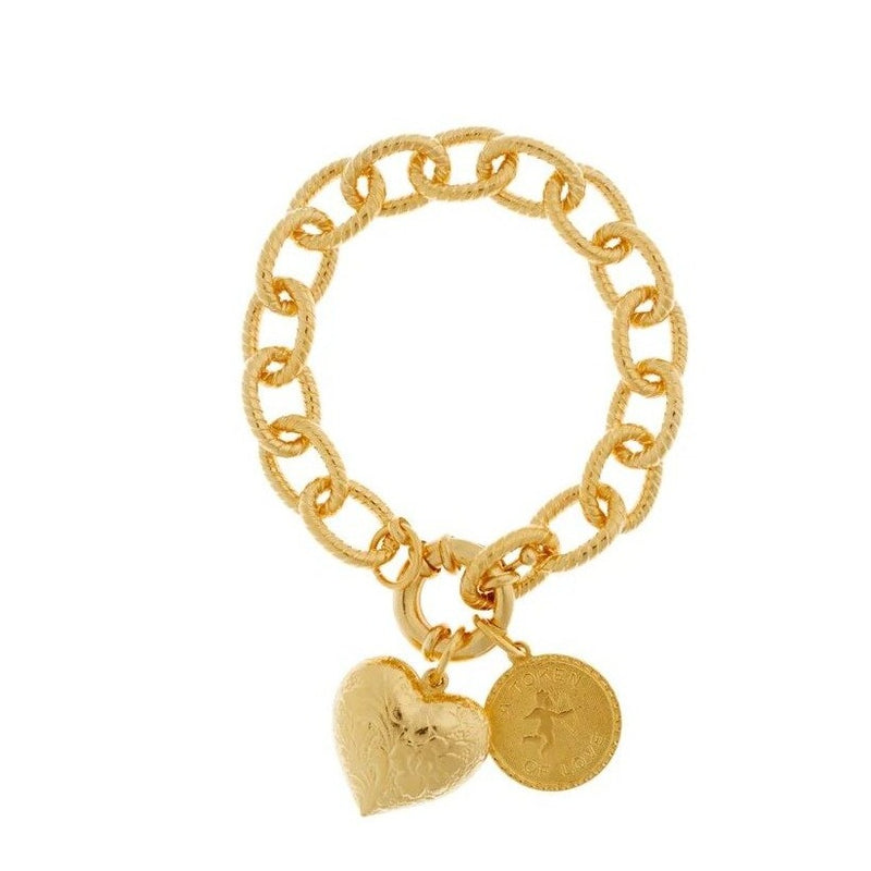 Token Of Love & Heart Bracelet