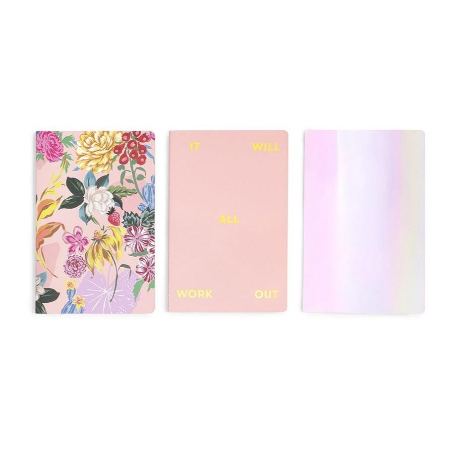 Set of 3 Notebooks - Garden Party