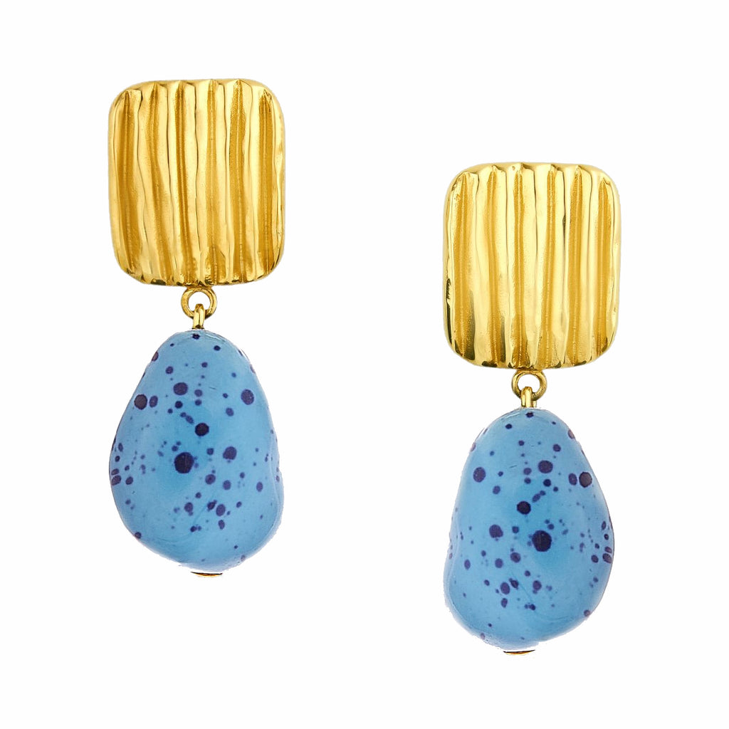 Misha Blue&Navy Earrings