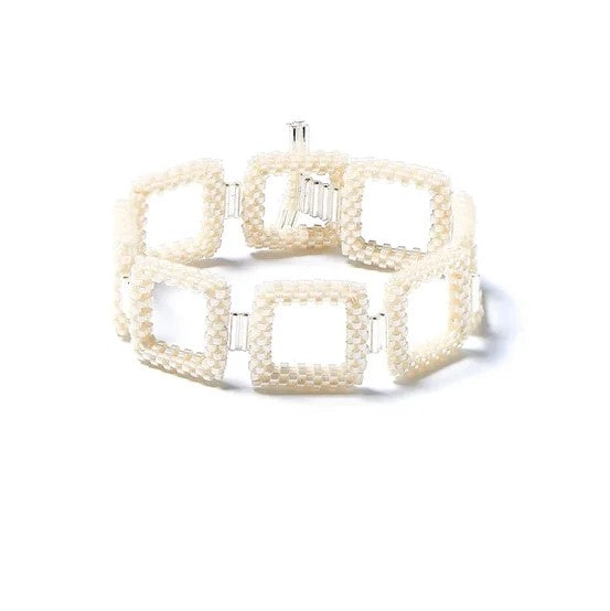 Pearl Square Beaded Bracelet