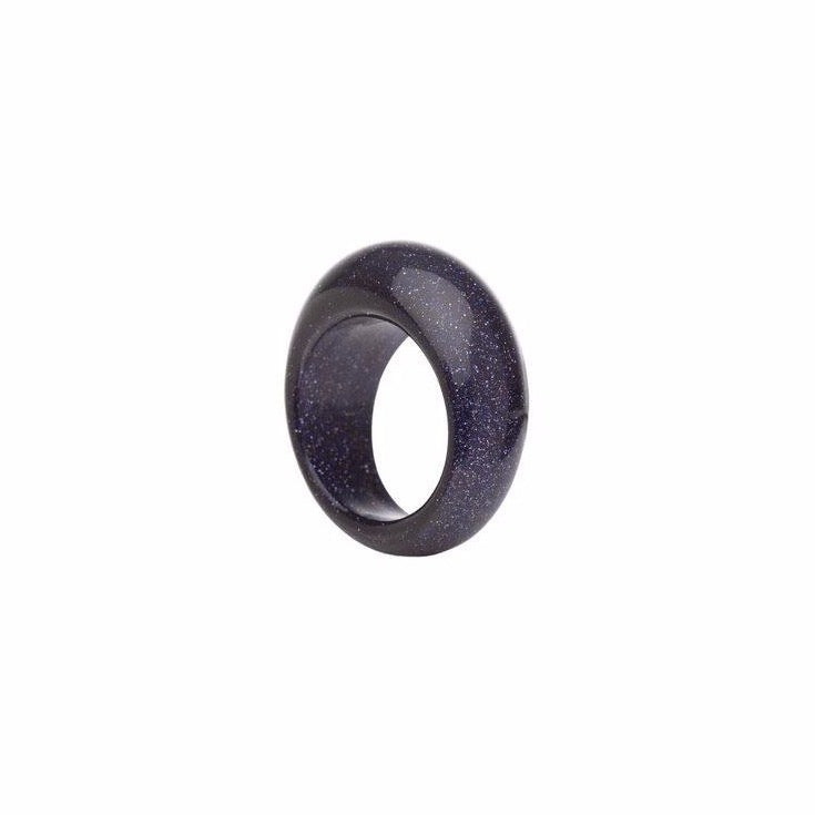 Jade Black Ring