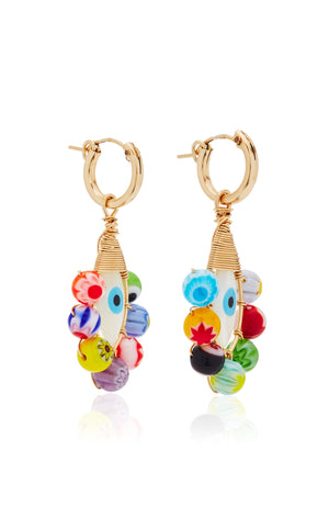 Millefiori Evil Eye Hoops