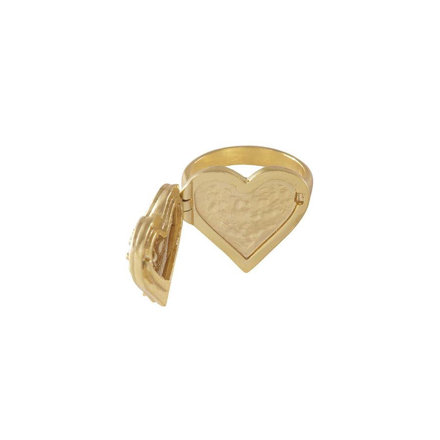 Harlow Gold Locket Ring