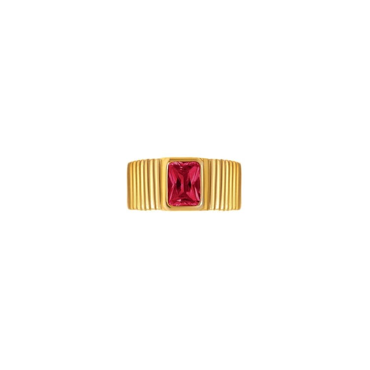 Egyptian Gold Red Ring