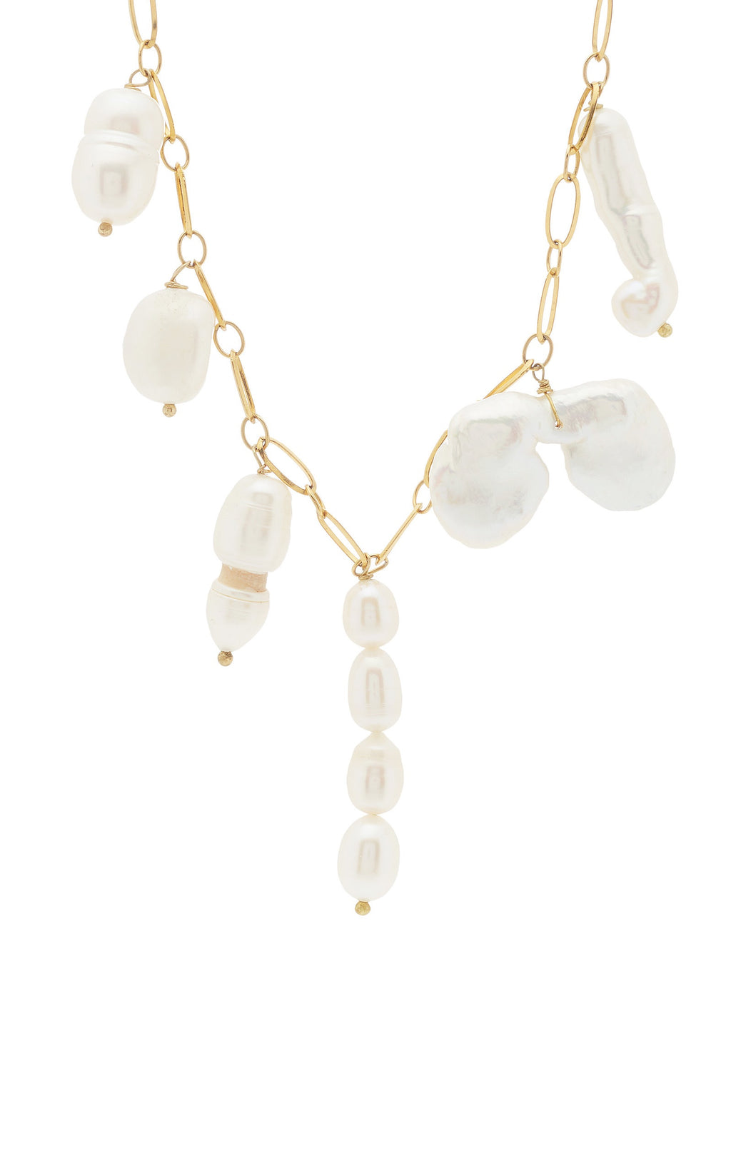 Baroque Pearl-Drop Necklace