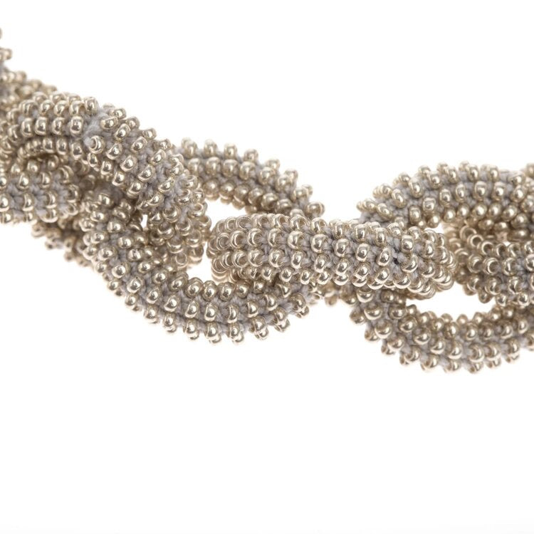 Silver Beads Chain Necklace