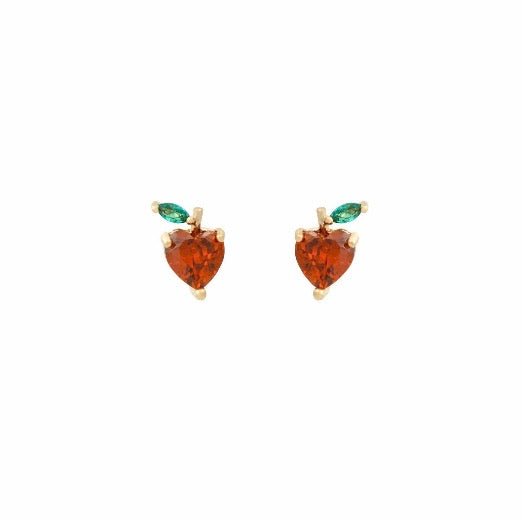 Mini Earrings - Apple Crystal