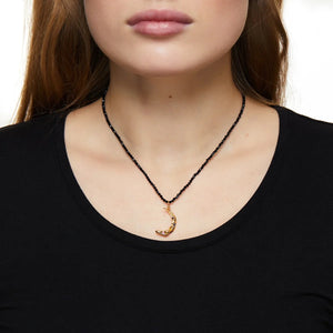 Melies Moon Stardust Black Necklace