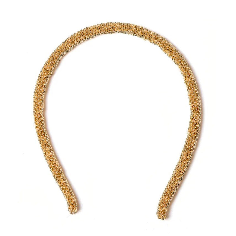 Gold Beaded Hair Band