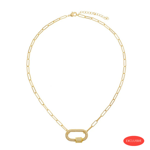 Carabine Crystal Gold Necklace