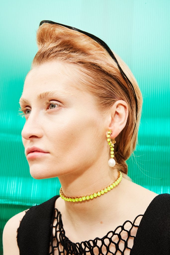 Danceteria Neon Yellow Earrings