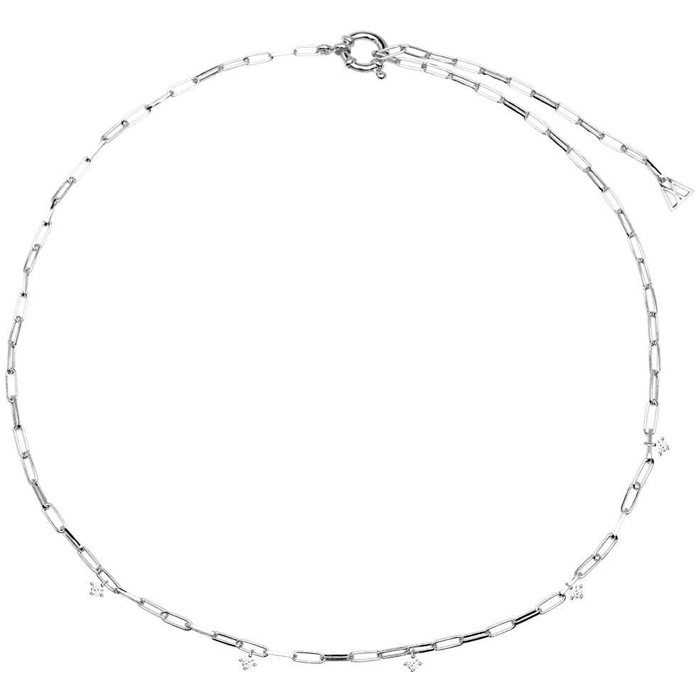 Gina Silver Necklace