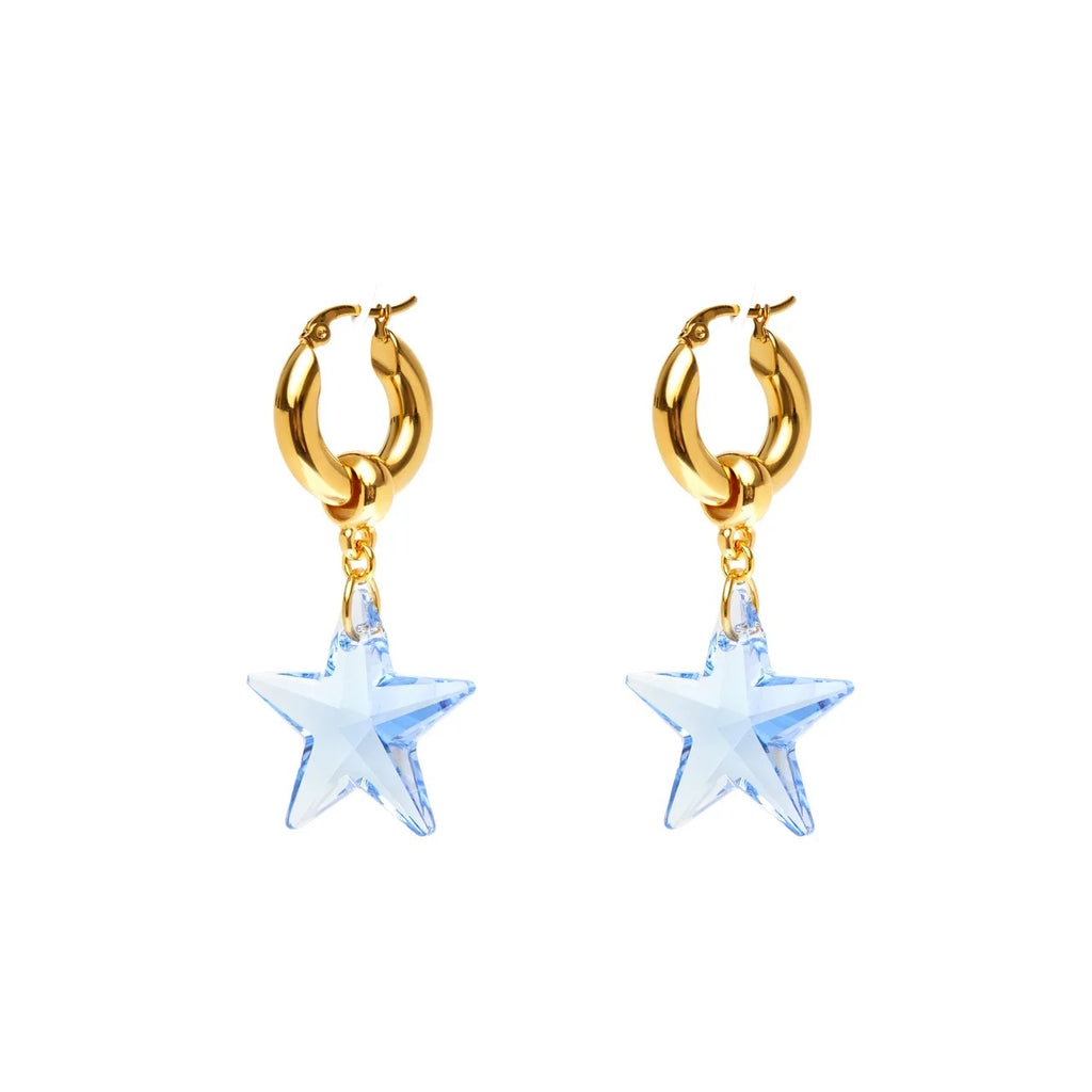 Swarovski Star Hoop Earrings