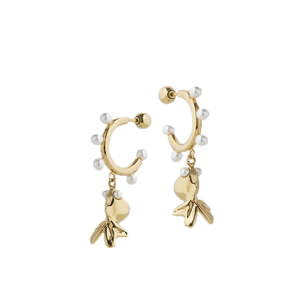 Lucky Gold Fish Earrings
