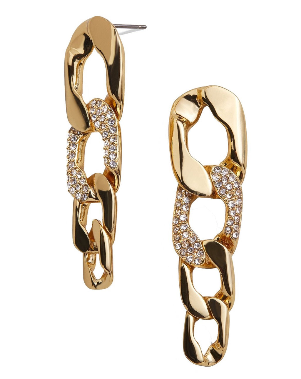 Michel Curb Chain Drop Earrings