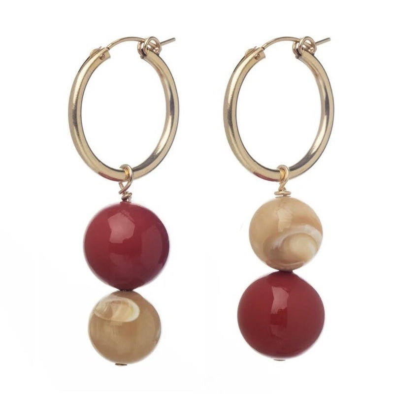 Zanzi Red Hoops