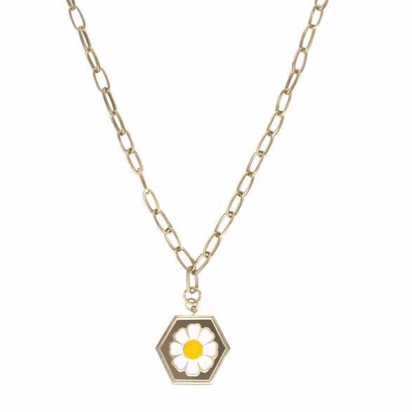 Gold Daisy Necklace