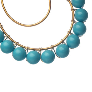 Lune Turquoise Hoops