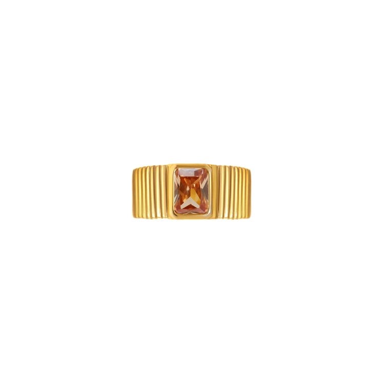 Egyptian Gold Champagne Ring