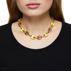 Sweet Kisses Yellow Necklace