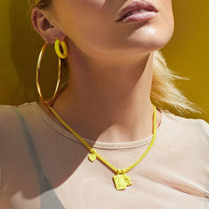 Rainbow Baby Amalfi Hoops- Yellow