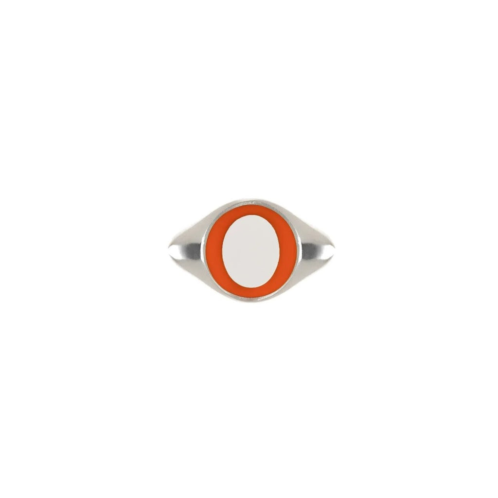 Juls Ring With Orange Enamel
