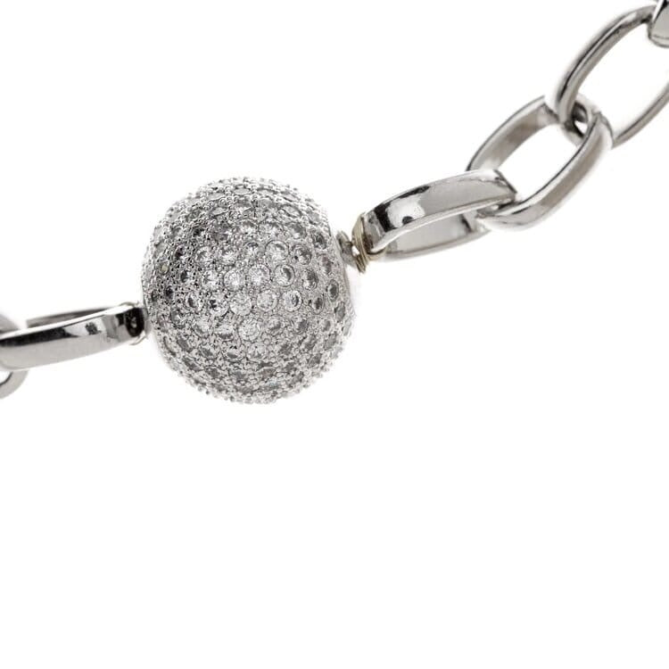 Shiny Ball Silver Necklace