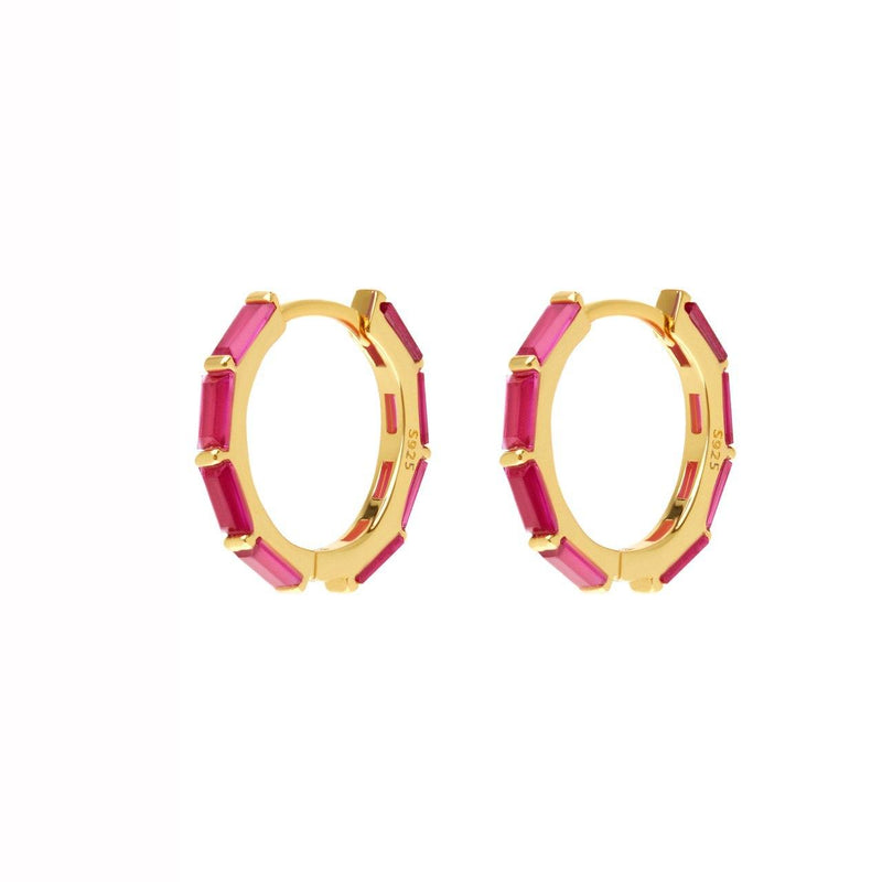 Vinous Rect Earrings