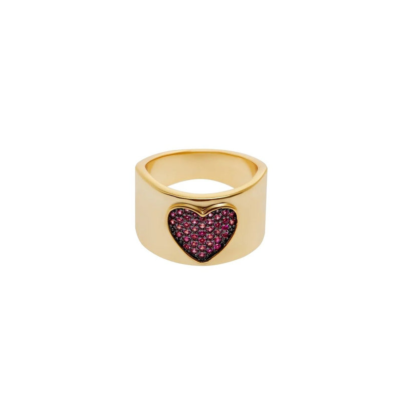 Pink Heart Gold Ring