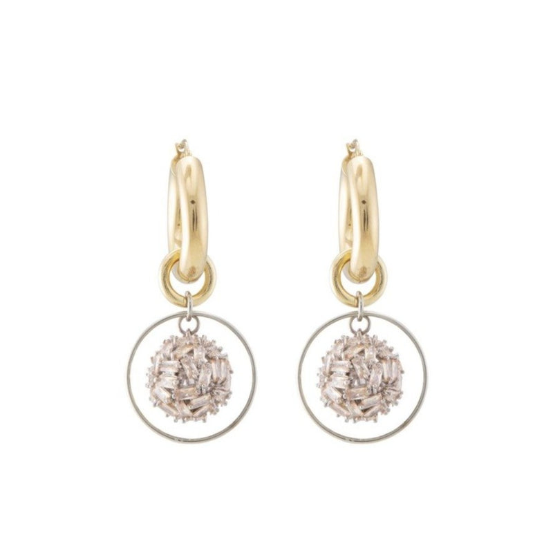Supernova Champagne Hoop Earrings
