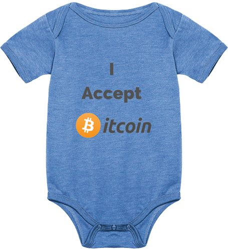 Body Bébé I Accept Bitcoin Le Cryptopolitain