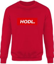 Sweat HODL. homme rouge le cryptopolitain