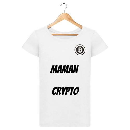 t-shirt maman crypto femme neige le cryptopolitain